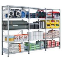 Paquete completo estantería de cargas pequeñas estante SCHULTE sistema de encajado|sistema de ensamblajes, carga por estante 250 kg