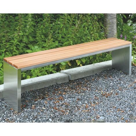Parkbank mit Sitzleisten aus Garapa-Echtholz