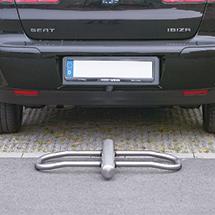 Parkbügel Edelstahl, kipp- + abschließbar, 820mm breit