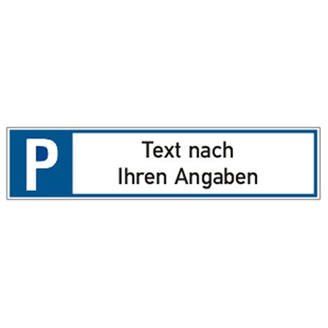 Parkplatz-Reservierungsschild nach Wunsch, BxH 52x11cm