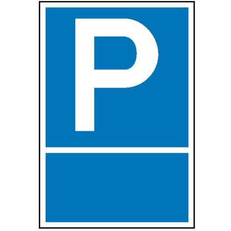 Parkplatzschild mit Text nach Wunsch