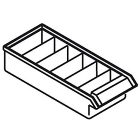 Partition, transverse, for premium small parts cabinets