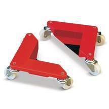 Patim de carga com rodas-guia de borracha sólida