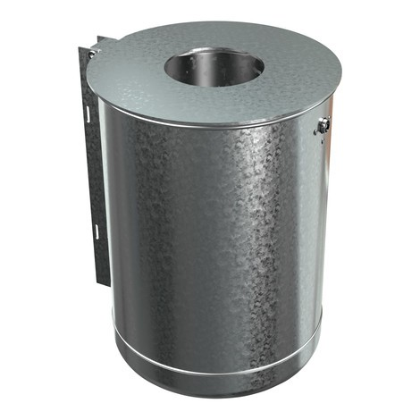 Pattumiera in acciaio, 50 litri