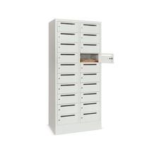 PAVOY Armadio per distribuzione postale, 2 x 10 scomparti, AxLxP 1.850 x 830 x 500 mm