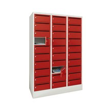 PAVOY - Armadio per distribuzione postale, 3 x 10 scomparti, AxLxP, 1.850 x 1.230 x 500 mm