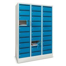 PAVOY - Armadio per distribuzione postale, 3 x 10 scomparti, AxLxP, 1.850 x 930 x 500 mm