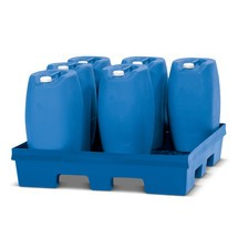 PE-lekbak, bodemopstelling, voor tot 4 x 200 l-vaten, opvangvolume 405 l