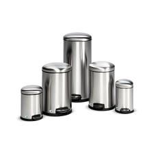 Pedal-affaldsbeholder af rustfrit stål