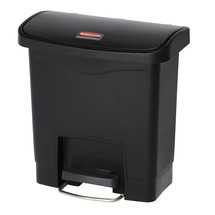 Pedal-affaldsbeholder Rubbermaid Slim Jim® med pedal på den brede side, kunststof