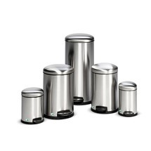 Pedal waste bin, stainless steel