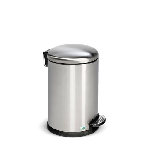 Pedal waste bin, stainless steel