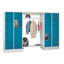 Penderie à casiers verrouillables PAVOY, fermeture à pêne tournant, 2x10compartiments, HxlxP 1850x2270x500mm
