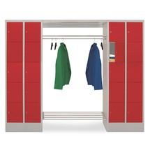 Penderie à casiers verrouillables PAVOY, fermeture à pêne tournant, 2x10compartiments, HxlxP 1850x2300x500mm