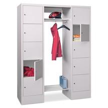 Penderie à casiers verrouillables PAVOY, fermeture à pêne tournant, 2x5compartiments, HxlxP 1850x1400x500mm