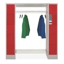 Penderie à casiers verrouillables PAVOY, fermeture à pêne tournant, 2x5compartiments, HxlxP 1850x1700x500mm