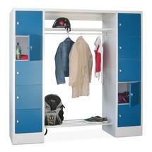 Penderie à casiers verrouillables PAVOY, fermeture à pêne tournant, 2x5compartiments, HxlxP 1850x1900x500mm