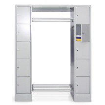 Penderie à casiers verrouillables PAVOY, fermeture à pêne tournant, 3x5compartiments, HxlxP 1850x2000x500mm