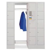 Penderie à casiers verrouillables PAVOY, serrure à cylindre, 3x5compartiments, HxlxP 1850x1500x500mm