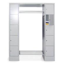 Penderie à casiers verrouillables PAVOY, serrure à cylindre, 3x5compartiments, HxlxP 1850x2300x500mm