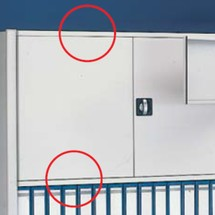 Pestillo de puerta para estantería archivadora META, una cara, gris claro