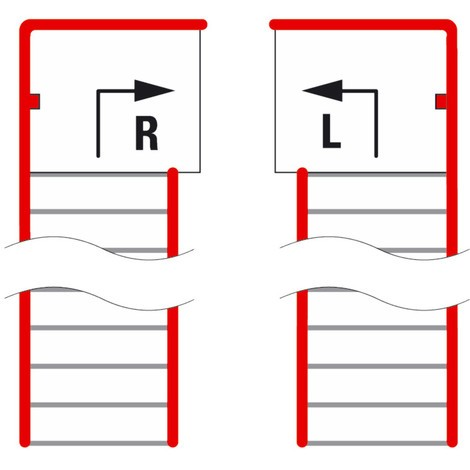 Pianerottolo per sistema modulare per soppalchi, uscita a sinistra