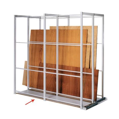 Piano base per scaffalatura per pannelli