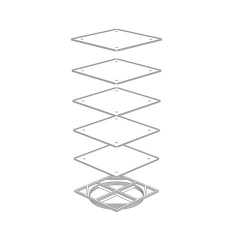 Pie giratorio para módulos de cajones