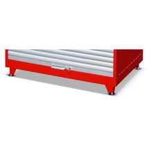 Pieds réglables en hauteur pour armoire à volet roulant pour substances dangereuses RSG, 4pièces/unité de vente