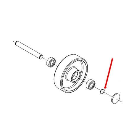 Pierścień zabezpieczający koło