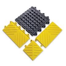 Pieza lateral /de esquina para placa de suelo, sistema de encajado
