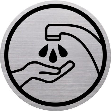 """Piktogramm """"Hände waschen"""", Edelstahl"""