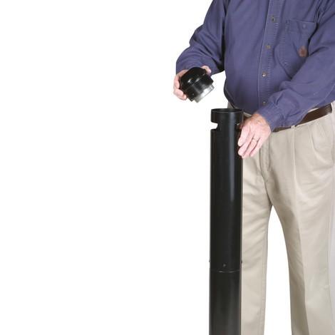Pilar de cinzas de poste para fumantes