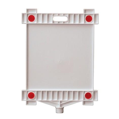 placa de sinalização em branco, retângulo, com refletores