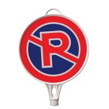 """placa de sinalização """"Proibição de estacionamento"""", rodada, para cone de tráfego e poste de vedação"""