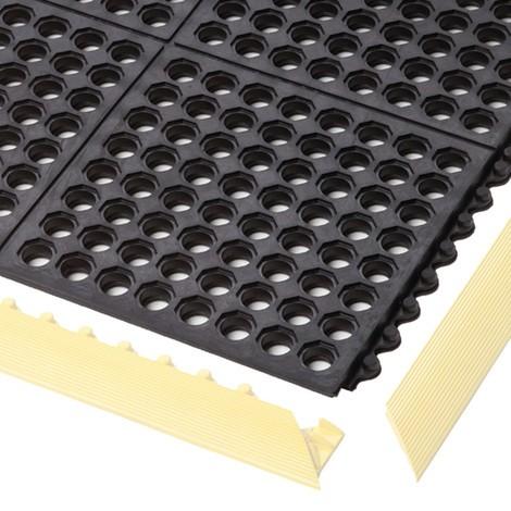 Placa de suelo para puesto de trabajo de montaje, sistema de encajado