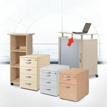 Placa superior para gabinetes de persianas transversales