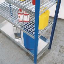 Plan de stockage pour rayonnage à matières dangereuses asecos®, pour liquides dangereux pour les eaux
