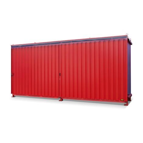 Plankcontainer voor 12x EP/8x CP3, 2 niveaus, 2 schuifdeuren, geleiderail