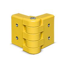 Planken C-Profil variabel, gelb kunststoffbeschichtet, Eckplanken