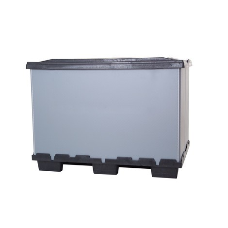 Plastic folding box with feet