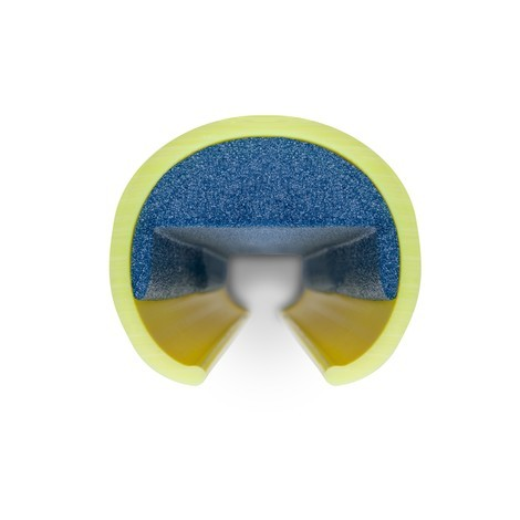 Plastic impact protection for racking frames
