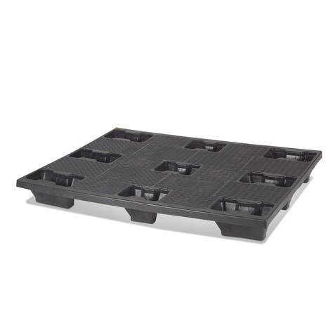 Plastová paleta BASIC, statická nosnosť 4000kg, DxŠ 1200x 1000mm