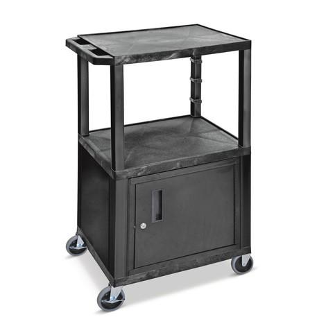 Plastový prepravný vozík BASIC sdolnou skrinkou
