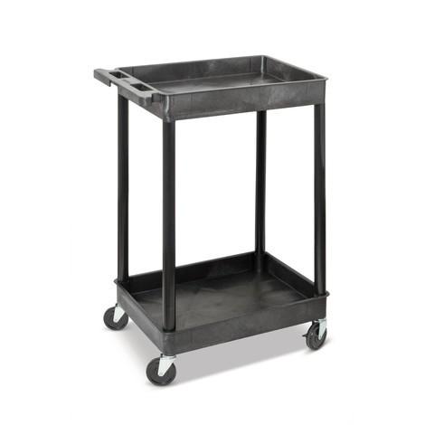 Plastový prepravný vozík BASIC, svaňami