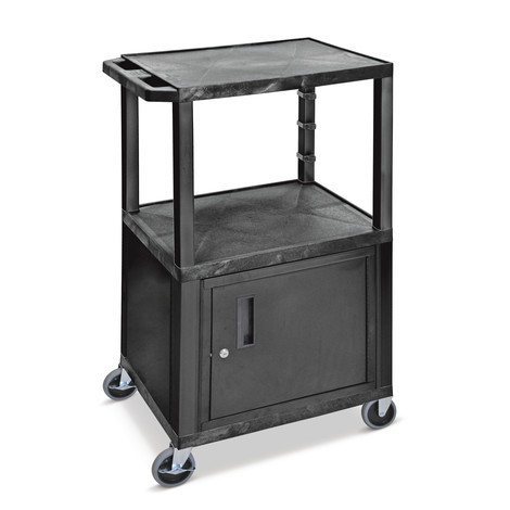 Plastový transportní vozík BASIC sdolní skříňkou