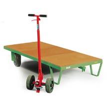 Plateau à roulettes avec plate-forme en bois