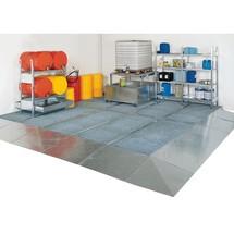 Plateau de Collecte plat en acier, capacité de charge 6 500 kg/m²