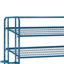 Plateau supplémentaire en treillis pour chariot à plateaux pour bacs fetra®