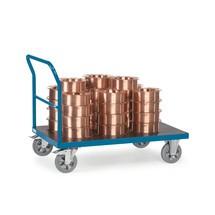 Plateauwagen fetra® voor zware lasten, met duwbeugel